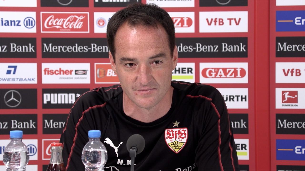 VfB-Trainer Nico Willig vor dem Regelations-Rückspiel bei Union Berlin (Foto: STUGGI.TV)