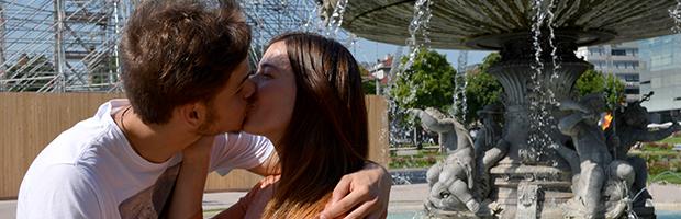 küssen in der öffentlichkeit