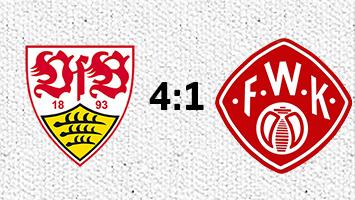 VfB Stuttgart steigt in die Erste Bundesliga auf. Alle Infos zu dem 4:1-Spiel gegen die Würzburger Kickers. Foto: STUGGI.TV/Goes