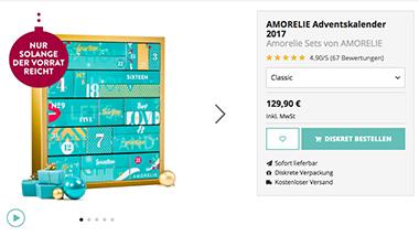 Der Adventskalender von Amorelie ist ungewöhnlich und erotisch (Foto: amorelie.de)