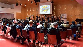 Und es hat Boom gemacht: Jugendconvention stimmt Schüler auf Wahlen ein (Foto: STUGGI.TV)