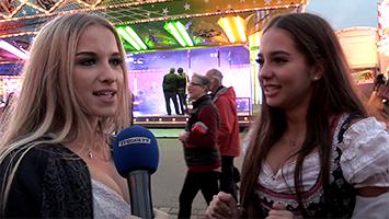 Umfrage auf dem Cannstatter Wasen beim Volksfest 2018: Wie tief sollte der Dirndl-Ausschnitt bei Mädchen sein? (Foto: STUGGI.TV)