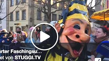 Fasching 2018 in Stuttgart. Der Umzug im Livestream. (Foto: Screenshot Facebook)