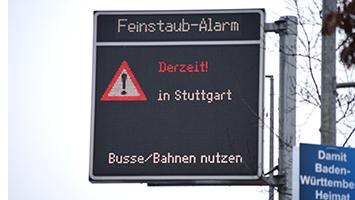 Stuttgarter ziehen Bilanz zum Feinstaubalarm Foto: Krause/STUGGI.TV