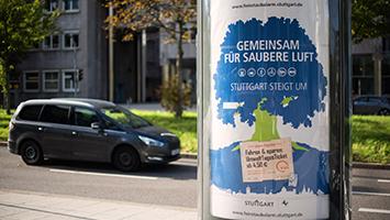 Feinstaubalarm in Stuttgart. Das Feinstaub-Ticket der VVS. (Foto: LHS Stuttgart)