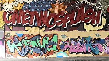 Zwei Schüler aus Stuttgart-Vaihingen haben sich für mehr Freiflächen für Graffiti in der Politik eingesetzt. Mit Erfog. (Foto: Privat)