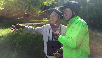 Friedrich Goes zeigt sein Werk: Das Grüne U. Foto: Goes/STUGGI.TV