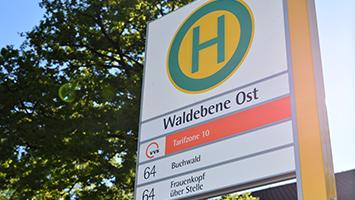 Haltestelle Waldebene Ost (Foto: STUGGI.TV/Grimmer)