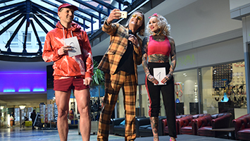 Jogginghose in Stuttgart: Nach dem Verbot im Cafe Le Theatre fand ein Jogginghosen-Contest statt. (Foto: STUGGI.TV)