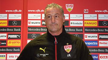 Jürgen Kramny auf der VfB-PK (Foto: STUGGI.TV/Goes)