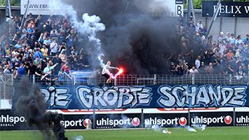 Die Stuttgarter Kickers sind am 12.05.2018 in die Oberliga abgestiegen. Das sagen die Fans. (Foto: STUGGI.TV)