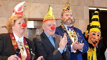 OB Fritz Kuhn feiert Fasching im Rathaus in Stuttgart. (Foto: STUGGI.TV)