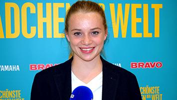 """Die Schauspielerin Luna Wedler aus """"Das schönste Mädchen der Welt"""" im Interview bei STUGGI.TV (Foto: STUGGI.TV/Frank)"""