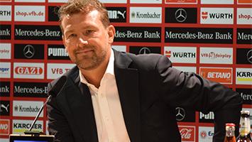 Der neue VfB-Trainer Markus Weinzierl stellt sich vor (Foto: STUGGI.TV)