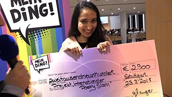 Mein Ding-Gewinnerin Hosnijah Mehr im Rathaus Stuttgart. (Foto: STUGGI.TV)
