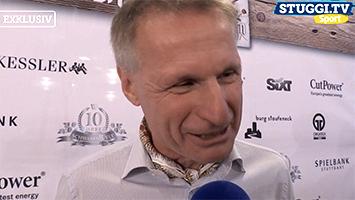 Michael Reschke, Sportvorstand es VfB Stuttgart im Interview beim STUGGI.TV auf dem Cannstatter Wasen. (Foto: STUGGI.TV)