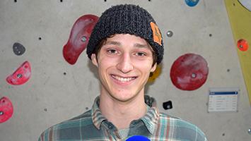 Kletter Star Moritz Hans (Ninja Warrior) bei STUGGI.TV zu Gast (Foto: STUGGI.TV).