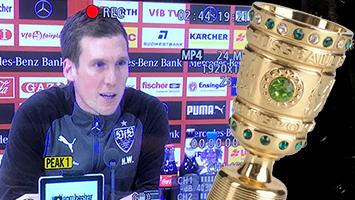 VfB-Trainer Hannes Wolf zum bevorstehenden DFB-Pokalspiel gegen Mainz 05. Foto: STUGGI.TV