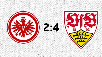 VfB Stuttgart gewinnt 4:2 in Frankfurt. Grafik: Goes/STUGGI.TV