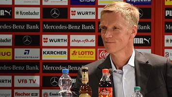 Der neue VfB-Sportvorstand Schindelmeiser. Foto: Goes/STUGGI.TV