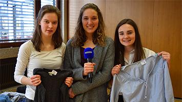 Zero-Waste-Week: Schülerinnen des St. Agnes Gymnasiums in Stuttgart wollen in Zeiten von Fridays For Future Taten sprechen lassen (Foto: STUGGI.TV)