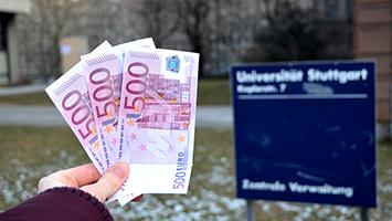 1500 € pro Semester: So viel sollen nicht EU-Ausländer ab dem Wintersemester 2018 für ein Studium in Deutschland bezahlen. Foto: STUGGI.TV/Kleine-Besten