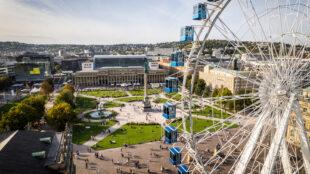 Fotostrecke: Riesenrad am Schlossplatz Stuttgart - Großer Andrang zum Start (Foto: STUGGI.TV)