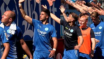 Nur 1:1 im Aufstiegsspiel gegen den SV Röchling Völklingen: Stuttgarter Kickers machen es weiter spannend (Foto: STUGGI.TV)