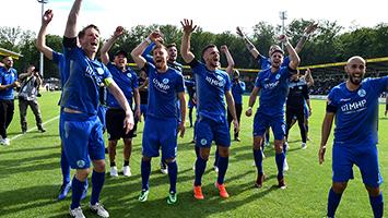Die Stuttgarter Kickers dürfen nach 4:3-Sieg beim FSV 08 Bissingen weiter vom Aufstieg in die Regionalliga träumen (Foto: STUGGI.TV)