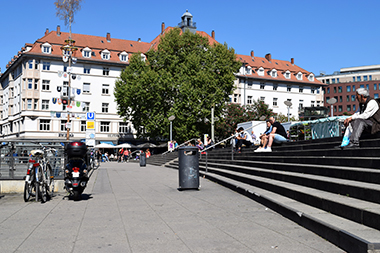 Marienplatz in Stuttgart Sued, Foto: STUGGI.TV/grimmer