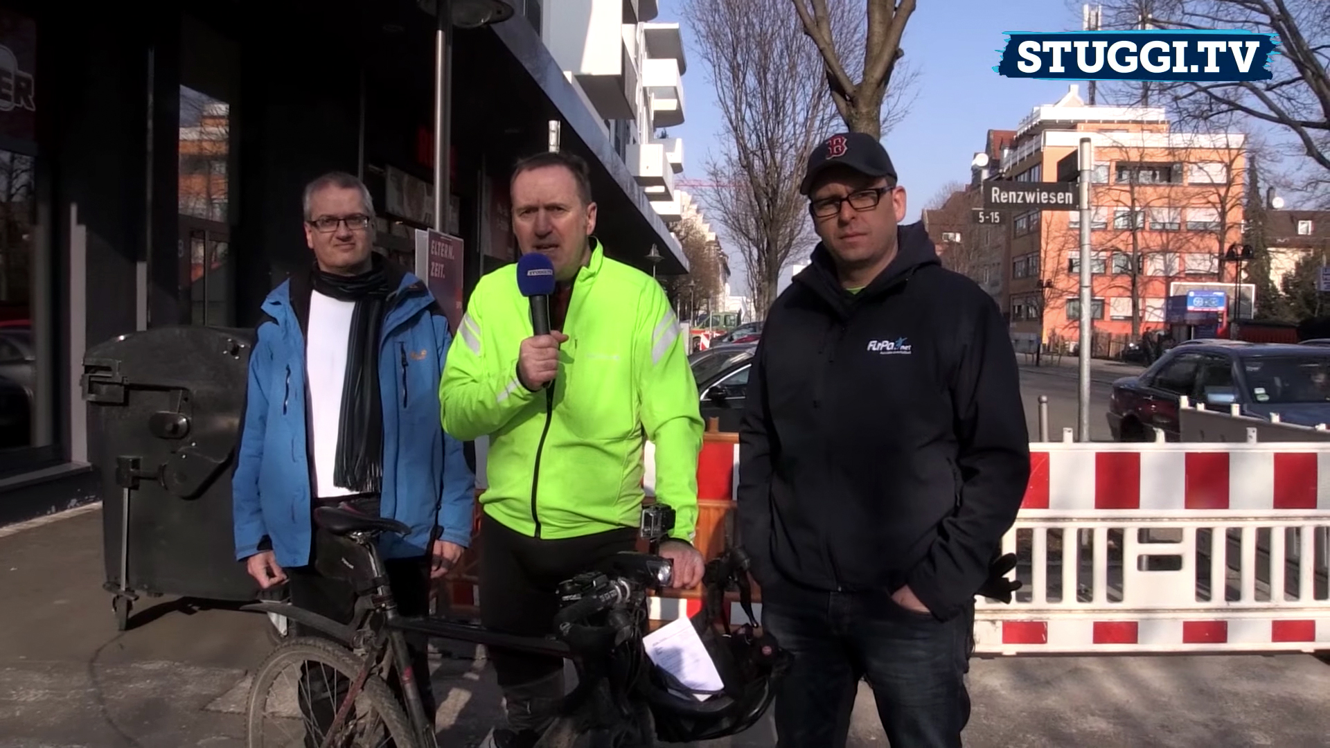 Tour de Stuttgart: Es geht durch die Innenstadt. Foto: Roos/STUGGITV