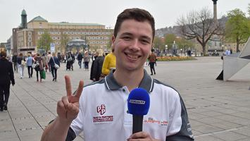 Rennfahrer Laurents Hörr aus Stuttgart im Trifft-Interview (Foto: STUGGI.TV/Frank)