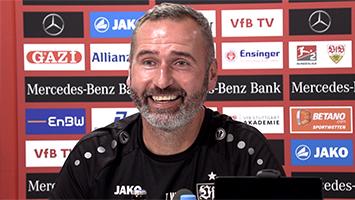 """VfB-Trainer Tim Walter vor dem Spiel gegen Wehen Wiesbaden: """"Wollen auch der Favorit sein"""" (Foto: STUGGI.TV)"""