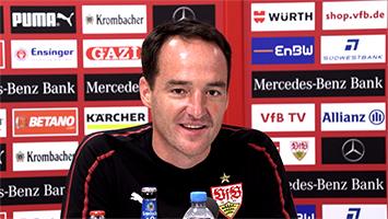 VfB-Trainer Nico Willig vor dem Relegationsspiel gegen Union Berlin (Foto: STUGGI.TV)