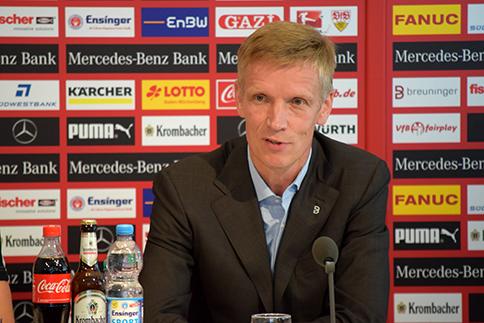 VfB Sportvorstand Jan Schindelmeiser. Foto: Goes/STUGGI.TV