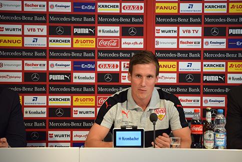 VfB Cheftrainer Hannes Wolf. Foto: Goes/STUGGI.TV