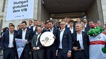 OB Kuhn empfängt den VfB Stuttgart im Rathaus (Foto: STUGGI.TV/Berger)