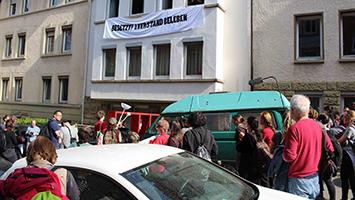 """Protest gegen Leerstand: Zwei Wohnungen in Stuttgart-Heslach weiter besetzt (Foto: BesetzerInnenkollektiv """"Leerstand beleben"""")"""